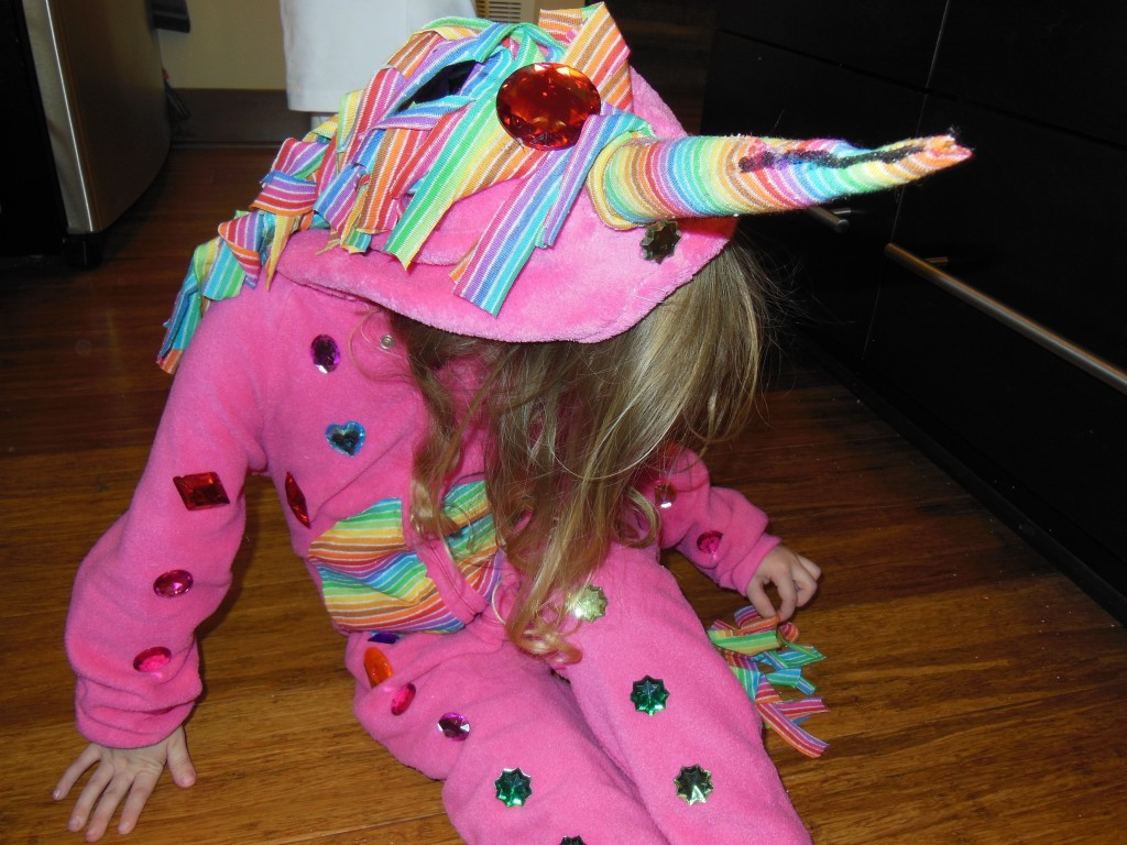 rainbow unicorn costume diy make halloween
