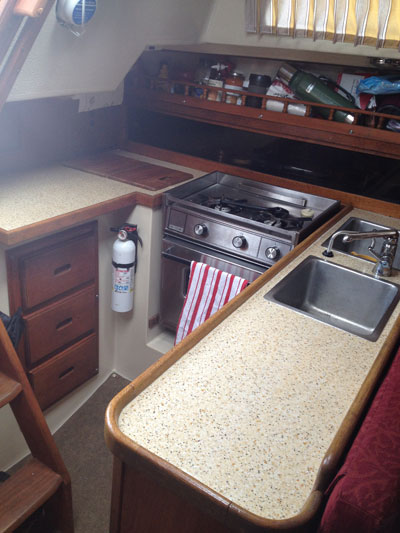 bar top epoxy counter top sail boat refinish laminate