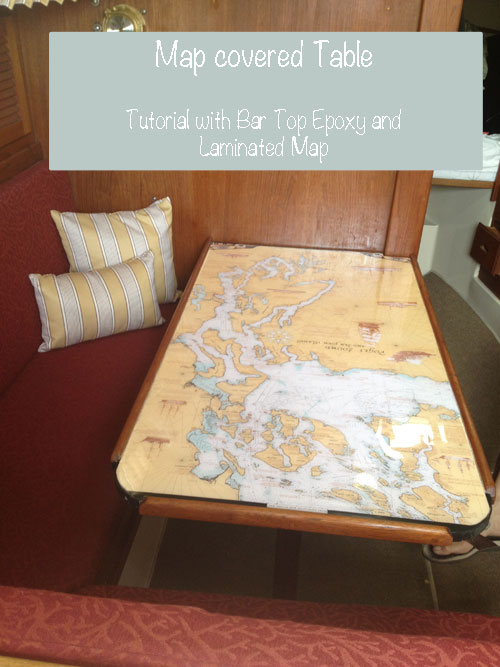 bar top epoxy table laminated Map