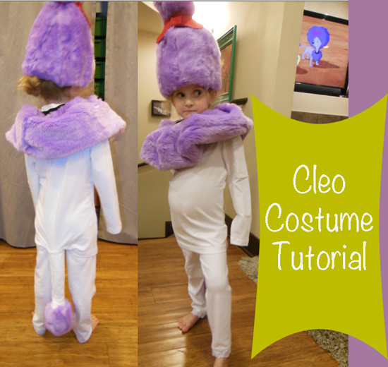 cleo costume from clifford the big red dog tv show cartoon halloween diy make