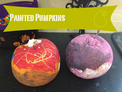 Painted pumpkins craft paint washable holiday halloween