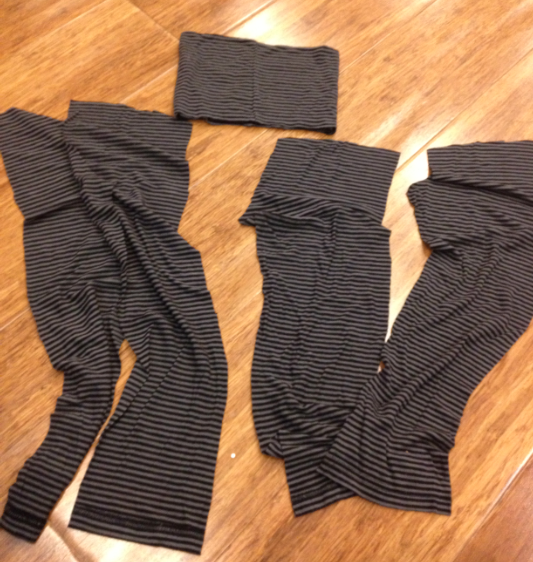 yoga pant toddler 4t from turtleneck upcycle