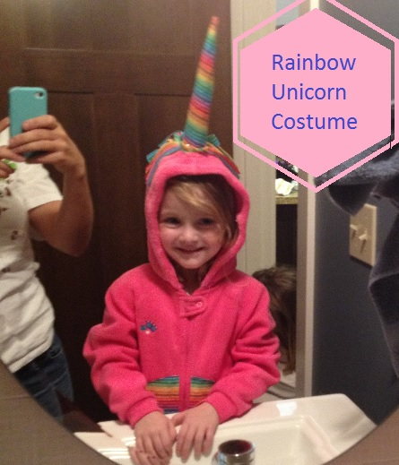 rainbow unicorn costume halloween diy make