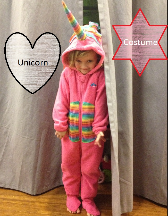 Unicorn costume halloween make DIY rainbow