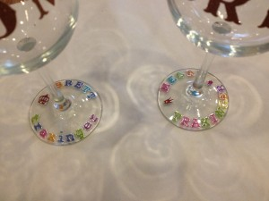 stickers ready for sandblasting etched wine glass weddding bride groom custom